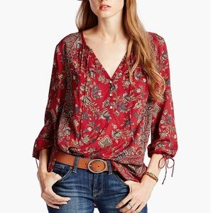 $98 Lucky Brand Floral Paisley Top